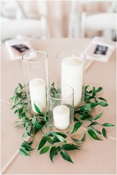 Foliage has become almost as covetable as flowers for giving your wedding decor a romantic, modern feel. Fresh and simple, herb and greenery wedding styling. Green Wedding Centerpieces, Cheap Wedding Decorations, Wedding Flower Arrangements, Flower Centerpieces, Greenery Centerpiece, Cheap Centerpiece Ideas, Italian Centerpieces, Quinceanera Centerpieces, Simple Centerpieces