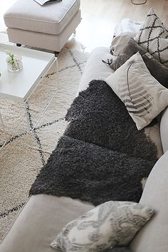Lovely new home in Sweden for this Beni Ouarain carpet from Beyond Marrakech! More Beni Ouarain and other Moroccan carpets available on my website www.beyondmarakech.com