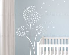 Dandelion Wall Decal Dragonfly Dandelion Wall Decal with Flying Dragonflies for Nursery Kids or Childrens Room 124 USD) by InAnInstantArt Nursery Decals, Name Wall Decals, Kids Wall Decals, Dandelion Wall Decal, Space Interiors, Art Original, Butterfly Wall Stickers, Custom Wall, Textured Walls