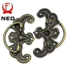 NED 10pcs Classical Bronze Tone Pattern Drawer Cabinet Desk Door Jewelry Box Pulls Handle Knobs Two Size With Furniture Hardware