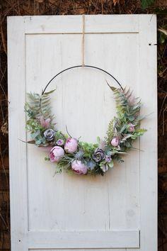 Eucalyptus Branches, Eucalyptus Wreath, Greenery Wreath, Wreaths, Apple Flowers, Artificial Flowers, Wedding Reception, Wedding Flowers, Hand Weaving