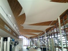 The Arc Hammersmith London Interior Ceiling Sails Feature 01a Tensilefabric Jpg 600 450 Pixels Acoustic Fabric Panels