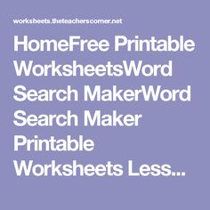FREE Printable Worksheets – Worksheetfun / FREE Printable Worksheets for Preschool, Kindergarten, & Grade. Free Printable Worksheets, Preschool Worksheets, Free Printables, Preschool Kindergarten, Word Search Puzzles, Teachers Corner, Thematic Units, Puzzles For Kids, 5th Grades