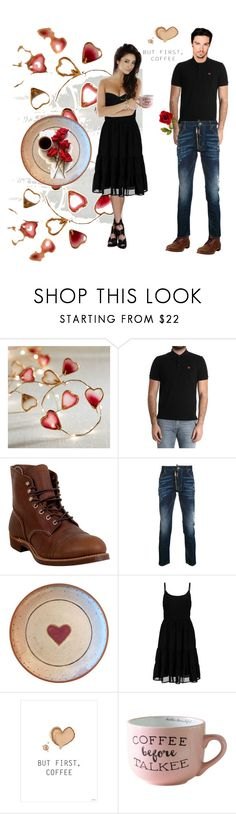 """""""Valentine coffee date"""" by rachel-hack-1 ❤ liked on Polyvore featuring Pier 1 Imports, Moschino, Red Wing, Dsquared2 and CoffeeDate"""