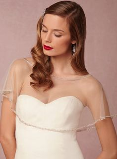 Beautiful wedding capelet @BHLDN