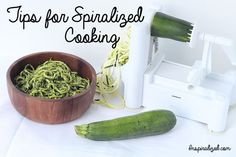 Tricks of the trade, rules of the land, words to the wise, pointers... whatever you call them, here are my top tips for spiralized cooking. This list will constantly grow, so click the icon on the ...