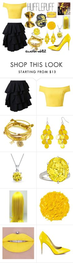 """""""Hufflepuff - Formal"""" by caitlin-mb82 on Polyvore featuring Comme des Garçons, Miss Selfridge, Mixit, Bling Jewelry, Illamasqua and BCBGeneration"""