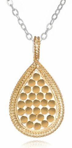 "Anna Beck Designs ""Gili"" Wire-Rimmed Reversible Teardrop 18k Gold-Plated Necklace, 18"" Anna Beck Designs,http://www.amazon.com/dp/B004VKMJIG/ref=cm_sw_r_pi_dp_oIAotb1K78QD7016"