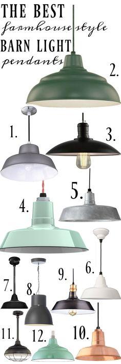Farmhouse Barn Light Pendants | We love #4 <3