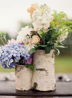 colorado mountain wedding  inspiration | centerpiece ides | aspen vase | flower arrangements |