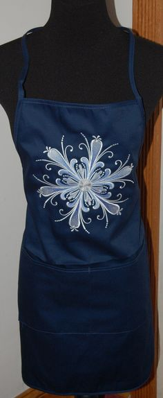 Rosemaling Snowflake Apron READY to SHIP by ClarePackages on Etsy, $16.95