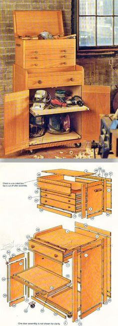 Rolling Tool Cabinet Plans - Workshop Solutions Plans, Tips and Tricks | WoodArchivist.com