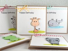 cute and simple Kid's birthday card