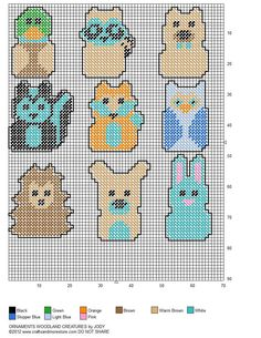 Woodland Creatures Christmas Tree Ornaments Pg 2/2