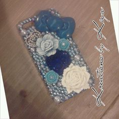 Blue iPhone 5 bling phone case
