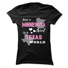 MINNESOTA girl in TEXAS world - #winter hoodie #oversized sweater. GET YOURS => https://www.sunfrog.com/States/MINNESOTA-girl-in-TEXAS-world-ladies.html?68278