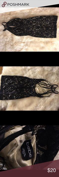 Bebe Lace Dress Wore it once , beautiful Bebe dress bebe Dresses Mini