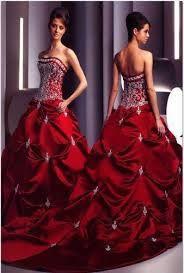 rich maroon wedding dress
