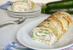 Rotolo+di+zucchine+con+formaggio+e+prosciutto+cotto