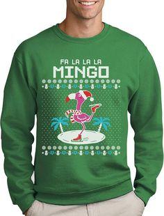 fa la la flamingo ugly christmas sweater funny xmas sweatshirt