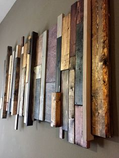 Delicieux Reclaimed Wood Wall Art: Multi Stain By ConstructedRustic On Etsy