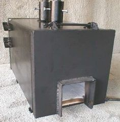 Homemade forge fired by a propane burner. Frame is constructed from flat and angles bars with round pipe for the legs and burner tube. Fire bricks are lined with Plistix to enhance efficiency. Forge Burner, Gas Forge, Propane Forge, Blacksmith Forge, Homemade Forge, Homemade Tools, Metal Projects, Metal Crafts, Metal Pipe