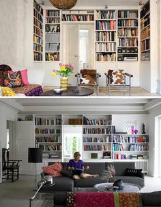 Love built-ins around a door. Great way to preserve visual space.