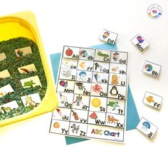 FREE ABC Flashcards and Chart for preschool, pre-k, and kindergarten. Print these tools to help students practice letter names and sounds. Free Alphabet Printables, Alphabet Charts, Preschool Phonics, Free Preschool, Teaching The Alphabet, Learning Letters, Abc Chart, Name Activities, Summer Activities