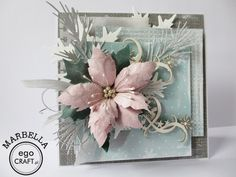 """Gallery of handicrafts: """"Wesołych Świąt"""" 2 Christmas Cards 2018, Homemade Christmas Cards, Homemade Cards, Holiday Cards, Xmas Cards Handmade, Handmade Christmas, Poinsettia Cards, Winter Cards, Card Envelopes"""