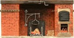Tudor cooking fireplace with bread oven - brickwork only