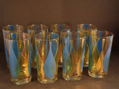 Barware Collection - FRED PRESS - ABSTRACT BOTTLES - HIGHBALL GLASSES