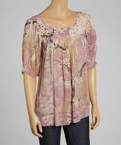 Loving this Pink East Breeze Scoop Neck Top on #zulily! #zulilyfinds