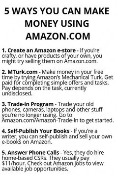 5 Ways You Can Make Money Using Amazon.com - Wisdom Lives Here #howtomakemoneyfromhome