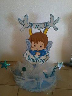 centro de mesa bautizo para niño - Buscar con Google