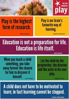 Image result for play and learning quotes