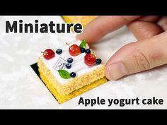 미니어쳐 미니 사과 요거트 케이크 만들기 (파리바게트) - Miniature cake - YouTube