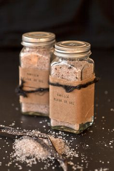 Vanilla infused salt      The blog Ideas in Food is really extraordinary in its scientific approach to the culinary arts. There was an entire week where I read nothing but musings about watermelon rind manipulation. Last week, I was ogling at parsnip tootsie rol