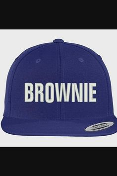 Shop Brownie Embroidered Flat Bill Adjustable Snapback Cap - Royal now save up 50% off, free shipping worldwide and free gift, Support wholesale quotation! Cool Baseball Caps, Snapback Cap, Quotation, Free Shipping, Flat, Cool Stuff, Shop, Quote, Bass
