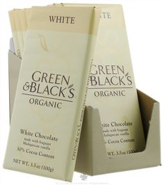 Green & Black's Organic - White Chocolate Bar 30% Cocoa