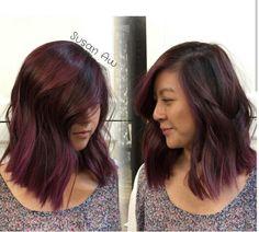 Blue Brown Hair, Plum Hair, Spring Hairstyles, Pretty Hairstyles, Hair Dos, Girly Girl, Hair Inspo, Hair Hacks, Hair And Nails