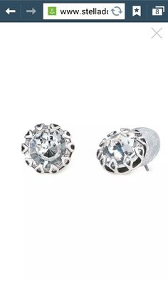 Vintage crystal studs.  Order yours today!