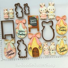 Easter Egg with Bow Cookie Cutter Neue Ostern Ausstechformen in unserem Shop! Easter Cookie Cutters, Easter Cookies, Easter Treats, Sugar Cookies, Christmas Cookies, Valentine Cookies, Birthday Cookies, Royal Icing Flowers, Paint Cookies