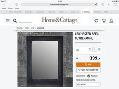 Trenger et speil til annekset og et til soverommet i hytta
