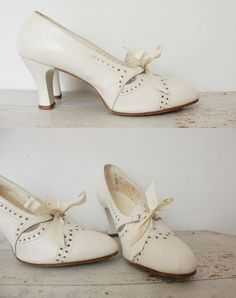 1930s Wedding shoes.  Maybe for the reception, where there will be swing dancing.