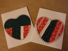 Sale 2.00 Handcrafted Christmas Cards Heart by GrammasTreasure