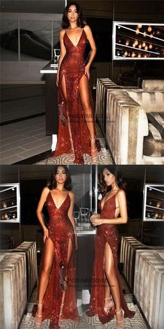2019 Sexy Sequin Sparkly Red Split Mermaid Prom Dresses, Fashion Style, Spaghetti Straps prom dress, Source by Sparkly Prom Dresses, Straps Prom Dresses, Gala Dresses, Mermaid Prom Dresses, Modest Dresses, Pretty Dresses, Evening Dresses, Formal Dresses, Red Sparkly Dress