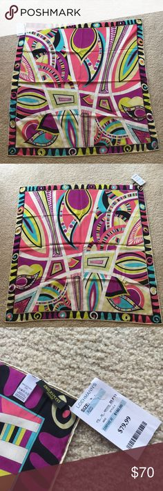 Emilio Pucci 100% Silk Scarf Beautiful Emilio Pucci fabulously fun printed scarf. Never been worn, new with tags. The only flaw is that the right stitch of the label is undone but is easily fixed with one stitch. (And it could use a good steam). It's in impeccable condition and it's so fun and timeless! Emilio Pucci Accessories Scarves & Wraps