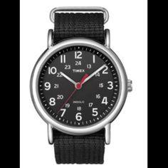 Timex Weekender Slip-thru Watch - Black Countdown Timer, Tablet Phone, Casual Watches, Low Lights, Online Shopping Stores, Weekender, Black, Black People, Caramel Highlights