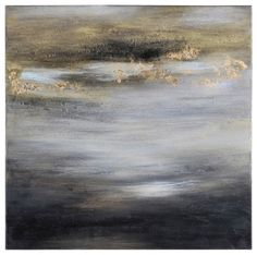 600da0f0202 This heavily textured abstract horizon is painted with wax
