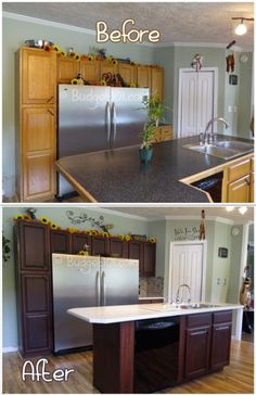 kitchen transformation part 2 {and review of Rustoleum Cabinet ...
